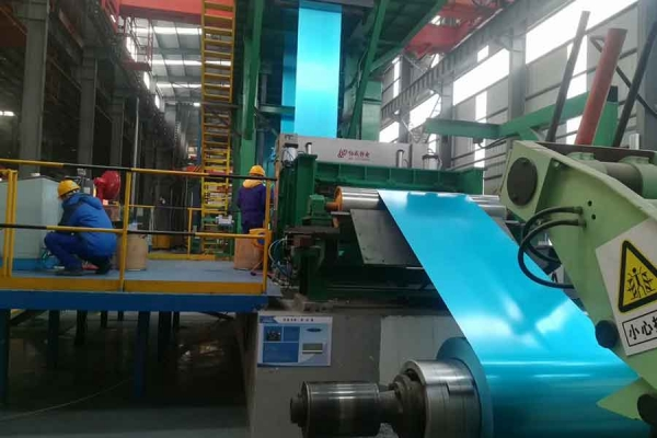 Continuous color coating line
