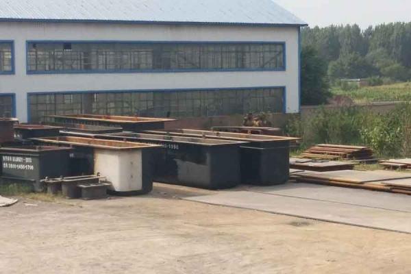 Steel zinc pot